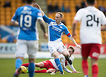 St Johnstone v Kilmarnock…25.02.17     SPFL    McDiarmid Park<br />Steven Anderson is tackled by Sean Longstaff<br />Picture by Graeme Hart.<br />Copyright Perthshire Picture Agency<br />Tel: 01738 623350  Mobile: 07990 594431