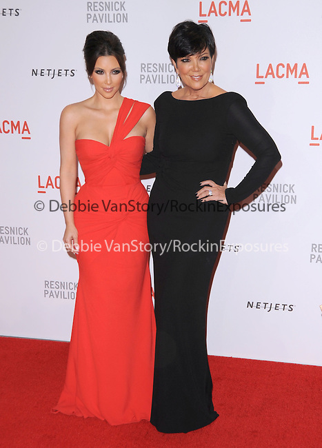 """Kim Kardashian and Kris Jenner at LACMA's """"The Unmasking"""" The Lynda & Stewart Resnick Exhibition Pavilion Opening Gala at       The Los Angeles County Museum of Art in Los Angeles, California on September 25,2010                                                                               © 2010 DVS / Hollywood Press Agency"""