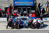 Monster Energy NASCAR Cup Series<br /> AXALTA presents the Pocono 400<br /> Pocono Raceway, Long Pond, PA USA<br /> Sunday 11 June 2017<br /> Gray Gaulding, BK Racing, Addiction Campuses Toyota Camry pit stop<br /> World Copyright: Russell LaBounty<br /> LAT Images<br /> ref: Digital Image 17POC1rl_05157