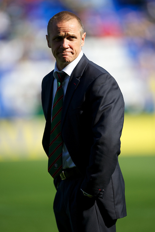 Brian Smith, London Irish Director of Rugby, before the Aviva Premiership match between London Irish and Bath Rugby at the Madejski Stadium on Saturday 22nd September 2012 (Photo by Rob Munro)