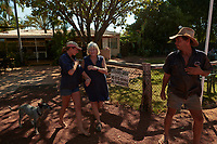 Joanna Atkins meets her mother at Drysdale station, fuel and camping stop. On the Gibb River Road, while travelling with husband Nick from Kununurra to Kalumburu.