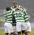 12/12/2009  Copyright  Pic : James Stewart.sct_jspa12_motherwell v celtic  . :: MARC ANTOINE FORTUNE IS CONGRATULATED BY TEAM MATES AFTER HE SCORES CELTIC'S WINNING THIRD :: .James Stewart Photography 19 Carronlea Drive, Falkirk. FK2 8DN      Vat Reg No. 607 6932 25.Telephone      : +44 (0)1324 570291 .Mobile              : +44 (0)7721 416997.E-mail  :  jim@jspa.co.uk.If you require further information then contact Jim Stewart on any of the numbers above.........