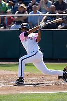 August 30, 2009: Everett AquaSox's Jose Rivero at-bat during a Northwest League game against the Salem-Keizer Volcanoes at Everett Memorial Stadium in Everett, Washington.  The AquaSox wore pink jerseys for breast cancer awareness.