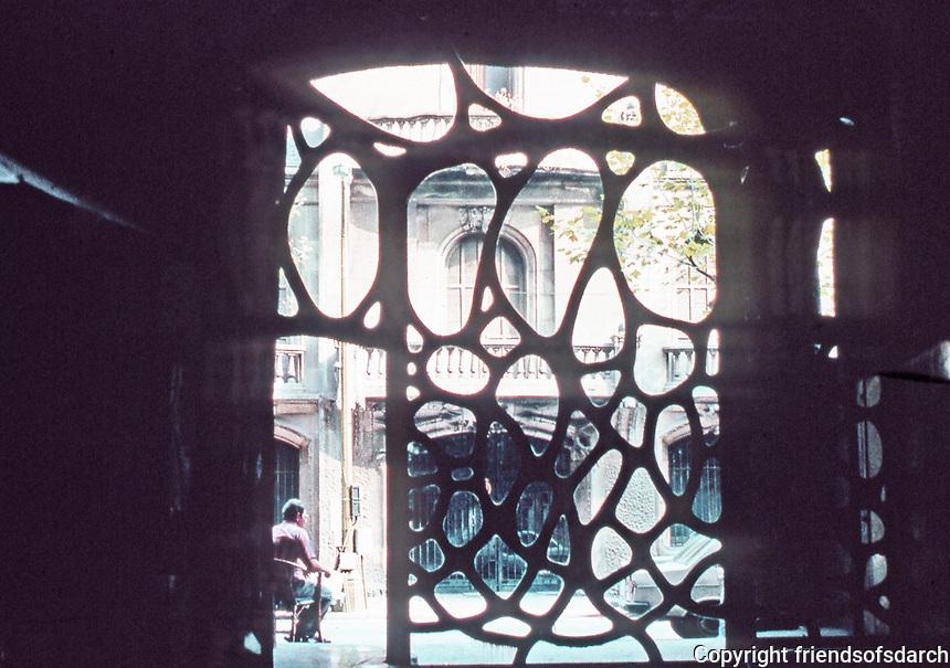 Door, Casa Mila, or La Pedrera, by Antoni Gaudi, Barcelona, Spain.