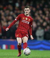 Liverpool's Andrew Robertson<br /> <br /> Photographer Rob Newell/CameraSport<br /> <br /> The Emirates FA Cup Fifth Round - Chelsea v Liverpool - Tuesday 3rd March 2020 - Stamford Bridge - London<br />  <br /> World Copyright © 2020 CameraSport. All rights reserved. 43 Linden Ave. Countesthorpe. Leicester. England. LE8 5PG - Tel: +44 (0) 116 277 4147 - admin@camerasport.com - www.camerasport.com