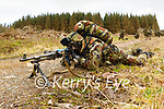 Private Grimes on Point Duty keeping a look out for everything at the Irish Defence Forces manoeuvres in Tralee.