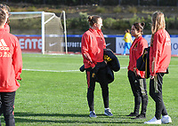 20200304  Parchal , Portugal : Belgian players with Lisa Lichtfus and Lola Wajnblum pictured during the female football game between the national teams of New Zealand , known as the Football Ferns and Belgium called the Red Flames on the first matchday of the Algarve Cup 2020 , a prestigious friendly womensoccer tournament in Portugal , on wednesday 4 th March 2020 in Parchal , Portugal . PHOTO SPORTPIX.BE | DAVID CATRY