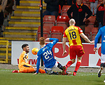 Wes Foderingham saves from Connor Sammon