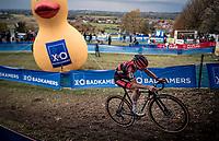 race leader (by a big margin) Eli Iserbyt (BEL/Pauwels Sauzen-Bingoal) .<br /> <br /> Koppenbergcross 2020 (BEL)<br /> men's race<br /> <br /> ©kramon