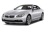 2015 BMW 6 Series Experience 2 Door Coupe Angular Front stock photos of front three quarter view