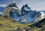 Hiker, Torres del Paine National Park, Chile.