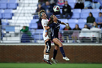 CHAPEL HILL, NC - NOVEMBER 29: Julia Dorsey #7 of the University of North Carolina plays the ball in front of Tara McKeown #13 of the University of Southern California during a game between University of Southern California and University of North Carolina at UNC Soccer and Lacrosse Stadium on November 29, 2019 in Chapel Hill, North Carolina.