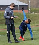 01.03.2019: Rangers training: Steven Gerrard and James Tavernier
