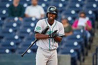 Daytona Tortugas right fielder Daniel Sweet (10) at bat during a game against the Tampa Tarpons on April 18, 2018 at George M. Steinbrenner Field in Tampa, Florida.  Tampa defeated Daytona 12-0.  (Mike Janes/Four Seam Images)