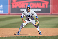 Peter Maris (1) of the UC Santa Barbara Gouchos in the field during a game against the Cal State Northridge Matadors at Matador Field on April 10, 2015 in Northridge, California. UC Santa Barbara defeated Cal State Northridge, 7-4. (Larry Goren/Four Seam Images)