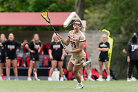 NEWTON, MA - MAY 14: Kayla Martello #38 of Boston College looks to pass during NCAA Division I Women's Lacrosse Tournament first round game between Fairfield University and Boston College at Newton Campus Lacrosse Field on May 14, 2021 in Newton, Massachusetts.