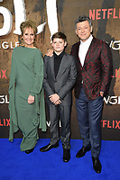 """Lorraine Asbourne, Louis Ashbourne-Serkis and Andy Serkis<br /> arriving for the""""Mowgli: Legend of the Jungle"""" premiere at the Curzon Mayfair, London<br /> <br /> ©Ash Knotek  D3464  04/12/2018"""
