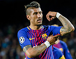 Jose Paulo Bezerra Maciel Junior, Paulinho, of FC Barcelona gestures during the UEFA Champions League 2017-18 quarter-finals (1st leg) match between FC Barcelona and AS Roma at Camp Nou on 05 April 2018 in Barcelona, Spain. Photo by Vicens Gimenez / Power Sport Images