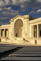 AJ4217, Arlington, Memorial Amphitheater, National Cemetery, Virginia, Memorial Amphitheater a white marble structure at Arlington Nat'l Cemetery in Arlington in the state of Virginia.