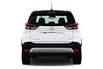 Straight rear view of a 2018 Opel Crossland X Innovation 5 Door SUV stock images