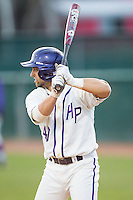 Tim Mansfield (40) of the High Point Panthers at bat against the Coastal Carolina Chanticleers at Willard Stadium on March 15, 2014 in High Point, North Carolina.  The Panthers defeated the Chanticleers 11-8 in game two of a double-header.  (Brian Westerholt/Four Seam Images)