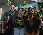 Klei Becker, Sky Grant and Sir Marvelous during the 28th annual Rocky Mountain Oyster Fry and St. Patrick's Day Parade in Virginia City, Nevada on Saturday March 16, 2019.