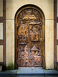 Door, Monastery New Gracanica, Third Lake, Illinois<br /> <br /> The chapel is dedicated to the Protection of the Most Holy Mother of God