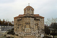 Athens: Octagonal Byzantine Church in Agora. Photo '82.