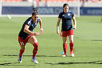 Houston, TX - Sunday Oct. 09, 2016: Ali Krieger prior to the National Women's Soccer League (NWSL) Championship match between the Washington Spirit and the Western New York Flash at BBVA Compass Stadium. The Western New York Flash win 3-2 on penalty kicks after playing to a 2-2 tie.
