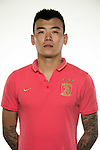 Yang Xin of Guangzhou Evergrande poses for the official photo prior to the Guangzhou Evergrande vs Gamba Osaka match as part the AFC Champions League 2015 Semi Final 1st Leg match on September 29, 2015 at  Tianhe Sport Center in Guangzhou, China. Photo by Aitor Alcalde / Power Sport Images