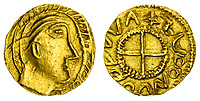 BNPS.co.uk (01202) 558833. <br /> Pic: Spink&Son/BNPS<br /> <br /> Pictured: This Crondall Types, c. 630-650, Gold Shilling sold for £34,800. <br /> <br /> A finance director's remarkable collection of historic Anglo-Saxon coins has sold for a staggering £856,000.<br /> <br /> Tony Abramson, president of the Yorkshire Numismatic Society, started collecting aged four in the 1950s.<br /> <br /> His passion developed during his teenage years and he went to great lengths to bolster his collection in the decades that followed until it reached 1,200 coins.