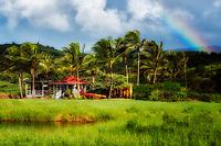cottage,rainbow,hawaii,kauai,tropical