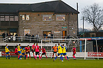 Stocksbridge search for an equaliser. Stocksbridge Park Steels v Pickering Town, Evo-Stik East Division, 17th November 2018. Stocksbridge Park Steels were born from the works team of the local British Steel plant that dominates the town north of Sheffield.<br /> Having missed out on promotion via the play offs in the previous season, Stocksbridge were hovering above the relegation zone in Northern Premier League Division One East, as they lost 0-2 to Pickering Town. Stocksbridge finished the season in 13th place.