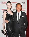 """Anne Hathaway & Valentino at The West Coast Premiere of """"Valentino: The Last Emperor"""" held at LACMA in Los Angeles, California on April 01,2009                                                                     Copyright 2009 RockinExposures"""