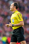 Referee Antonio Mateu Lahoz in action during their La Liga match between Atletico de Madrid and FC Barcelona at the Santiago Bernabeu Stadium on 26 February 2017 in Madrid, Spain. Photo by Diego Gonzalez Souto / Power Sport Images