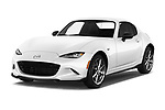 2019 Mazda MX-5 RF Club 2 Door Targa angular front stock photos of front three quarter view