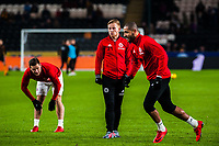 Sheffield United's forward Billy Sharp (10), Sheffield United's midfielder Mark Duffy (21) and Sheffield United's forward Leon Clarke (9) during the Sky Bet Championship match between Hull City and Sheff United at the KC Stadium, Kingston upon Hull, England on 23 February 2018. Photo by Stephen Buckley / PRiME Media Images.
