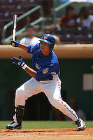 May 14 2009: Christian Lara of the Inland Empire 66'ers during game against the Stockton Ports at Arrowhead Credit Union Park in San Bernardino,CA.  Photo by Larry Goren/Four Seam Images