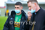 Paul Geaney, Kerry with Kerry County Board Chairman Tim Murphy after the Allianz Football League Division 1 South Round 1 match between Kerry and Galway at Austin Stack Park in Tralee.