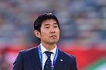 Japan Head Coach Hajime Moriyasu prior to the AFC Asian Cup UAE 2019 Group F match between Oman (OMA) and Japan (JPN) at Zayed Sports City Stadium on 13 January 2019 in Abu Dhabi, United Arab Emirates. Photo by Marcio Rodrigo Machado / Power Sport Images