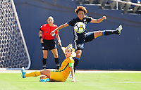 San Diego, CA - Sunday July 30, 2017: Hikari Takagi during a 2017 Tournament of Nations match between the women's national teams of the Australia (AUS) and Japan (JAP) at Qualcomm Stadium.