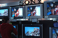 Sony TV's for sale in Guangzhou, China..10-DEC-04