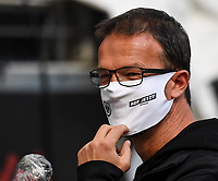 Sportvorstand Fredi Bobic (Eintracht Frankfurt) mit Maske im Innenraum der Commerzbank Arena - 16.05.2020, Fussball 1.Bundesliga, 26.Spieltag, Eintracht Frankfurt  - Borussia Moenchengladbach emspor, v.l. Stadionansicht / Ansicht / Arena / Stadion / Innenraum / Innen / Innenansicht / Videowall<br /> <br /> <br /> Foto: Jan Huebner/Pool VIA Marc Schüler/Sportpics.de<br /> <br /> Nur für journalistische Zwecke. Only for editorial use. (DFL/DFB REGULATIONS PROHIBIT ANY USE OF PHOTOGRAPHS as IMAGE SEQUENCES and/or QUASI-VIDEO)