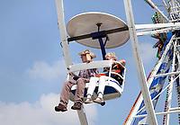 Nederland - Almere - Augustus 2018.    De tweede editie van het Forever Young Festival.  Het Forever Young Festival is een gratis festival met veel activiteiten en optredens voor 65-plussers. Het reuzenrad. Foto mag niet in negatieve context gepubliceerd worden.     Foto Berlinda van Dam / Hollandse Hoogte