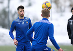 St Johnstone Training…. 15.01.21<br />Guy Melamed and Ali McCann pictured during training at McDiarmid Park ahead of tomorrows game against St Mirren<br />Picture by Graeme Hart.<br />Copyright Perthshire Picture Agency<br />Tel: 01738 623350  Mobile: 07990 594431