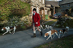 The Mayor of Troutbeck Hunt Day, Michael Nicholson, Huntsman and Master of the Coniston foxhounds. 2018