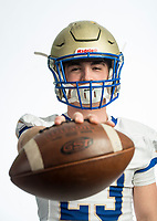 NWA Democrat-Gazette/BEN GOFF @NWABENGOFF<br /> Gabe Huskey of Harrison, division I football player of the year, poses for a photo Tuesday, Dec. 11, 2018, at the Northwest Arkansas Democrat-Gazette studio in Springdale.