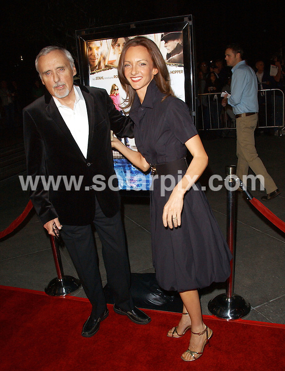 **ALL ROUND PICTURES FROM SOLARPIX.COM**.**SYNDICATION RIGHTS FOR UK, SPAIN, PORTUGAL, AUSTRALIA, S.AFRICA & DUBAI (U.A.E) ONLY**.The  Sleepwalking Screening  Arrivals at the The Director's Guild in West Hollywood, California in the USA..This pic:denis hopper,wife.JOB REF:5904-PHZ    DATE:06_03_08 .**MUST CREDIT SOLARPIX.COM OR DOUBLE FEE WILL BE CHARGED* *UNDER NO CIRCUMSTANCES IS THIS IMAGE TO BE REPRODUCED FOR ANY ONLINE EDITION WITHOUT PRIOR PERMISSION*