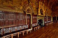 Bibliothek in der Burg von, Cardiff, Wales, Großbritannien.library inside the castle, Cardiff