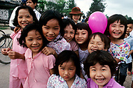 Danang, February 1988. Group of youngsters on Danang Beach all are Amerasians.